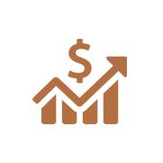 Increasing profits icon